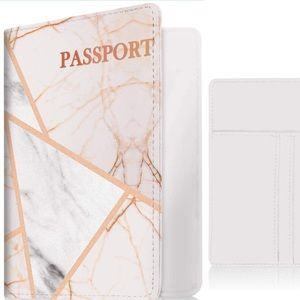 Woman's Chic' Grey MARBLE mix Passport holder *NWT